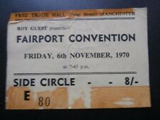 FAIRPORT CONVENTION - 1970 Manchester Free Trade Hall Gig Ticket
