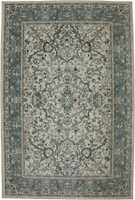 7' x 10' Karastan Machine Woven Area Rug Monaghan Sand Stone Cream Bay Blue