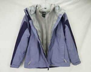 The North Face Hyvent Triclimate Hooded Jacket Purple/Gray Youth Girl's Large
