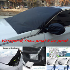 Set Auto Windshield Snow Sun Cover Ice Frost Removal Mirror Protector Universal