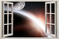space star 3D window Wall stickers Removable Mural Decor Home Decal Art Room