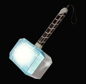 Thor Hammer Plastic 28cm LED Luminous Voice Thor Hammer Halloween Show Weapons