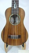 Solid Acacia Koa concert mop inlaid cat pattern Ukulele with hard case