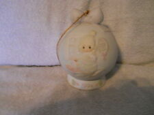 "PRECIOUS MOMENTS   1994  ""YOU'RE AS PRETTY AS A CHRISTMAS TREE"" ORNAMENT / STAND"