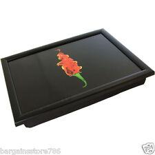 Black Modern Chilli Bean Bag Padded Cushioned Lap TV Dinner Laptop Tray