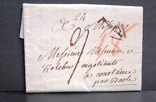 PLI pour COURTANCE par BÂLE - P NOIR DANS TRIANGLE - Daté de 1793 avec texte