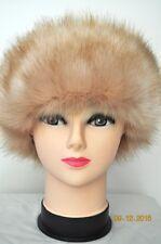 HEADBAND LIGHT BROWN Faux Fake Fur Hat Headband Winter Earwarmer Hat Ski FOX