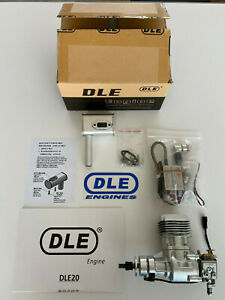 DLE 20 Engine 20cc / 2.7 HP / 8,500 RPM Gas Rear Carb Complete