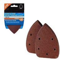 10 x Hook and Loop 140mm Detail Sanding Sheets 60 Grit Palm Sander Mouse Pads