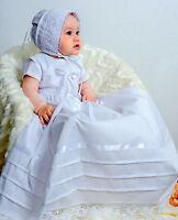 Taufkleid mit Mütze, Baby*Junge* Mädchen, Gr. 56-62-68-74-86, Baumwolle