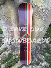 "🌺 Vintage 1996 Lib Tech Jamie Lynn rib-top mini rainbow hibiscus snowboard 4'8"""
