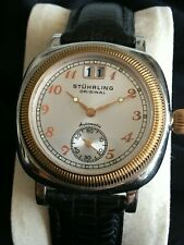 Superb Stuhrling Cushion Case Automatic Homage To Vintage Rolex Oyster Box/Paper