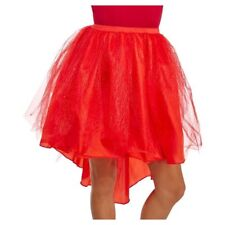 Womens Red Tutu ~ Flapper Style ~ Lace w/ Subtle Glitter Sparkles ~ OSFM ~ NEW!