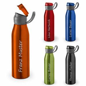 Trinkflasche mit Name GRAVUR Wasserflasche aus Aluminium personalisiert Geschenk