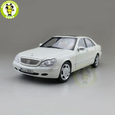 1/18 Benz S600 1998 S CLASS W220 Norev Diecast Model Toys Car Boys Gifts White