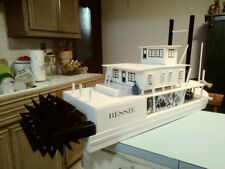 "Wooden model ""BESSIE"" Paddle Boat 12in W.x36in. long x 16in hi."