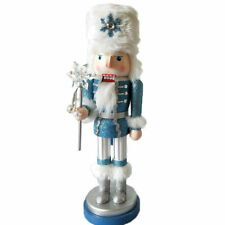 "Wooden Nutcracker Soldiers Walnut Home Decoration Ornament 15.7"" Height Gifts"