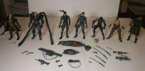 McFarlane Metal Gear Solid 2 Sons of Liberty Figure Lot with Weapons