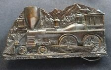 TRAIN LOCOMOTIVE AMERICAN 4-4-0 VINTAGE BELT BUCKLE 1977 CAPT HAWKS SKY PATROL