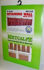 Metcalfe PN145 N Scale Retaining Wall in Red Brick