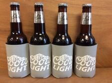 Coors Light Beer Koozie Grey Can Bottle Cooler Coozie - 4 Pack ~ NEW & Free Ship