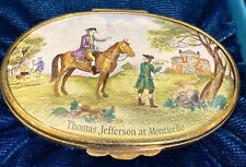 Halcyon Days Enamel Box 1976 Bicentennial Thomas Jefferson At Monticello 2/250