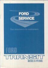 Ford Transit MK2 Van Minibus (Essence & Diesel) Orig. 1979 livret de service brochure