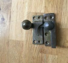 Original solid brass Victorian sash window catch