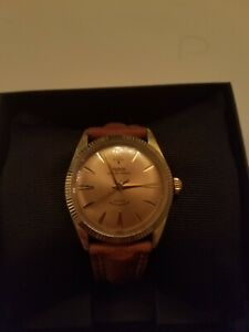 Vintage rolex tudor mens prince oyster BIG ROSE 1960 Gold plated