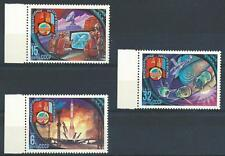 Russia 1981 Sc# 4921-23 set Space Mongolia Flags MNH