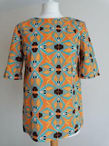 MSGM Multicoloured Cotton Top Size 40 UK 10