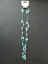 Modern bead necklace. Pale blue/green and bronze colour. New