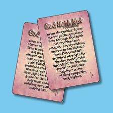 """God Hath Not Promised skies always Blue"" - 2 Verse Cards - sku# 988"