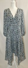 NORDSTROM COLLECTION Sheer Silk Floral DRESS SZ 12 NWOT MSRP $299 GORGEOUS!