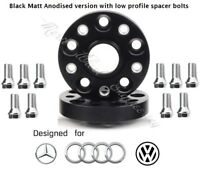 Merit Wheel Black Spacer Adapters 20 mm 5x112 66.6 mm 2 PCS Mercedes & Bolts