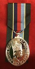"""FULL SIZE VRSM Volunteer Reserve Service  Medal with 10"""" Ribbon Superb Copy"""