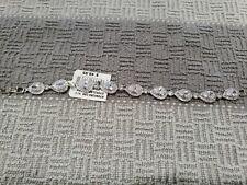 DAVIDS BRIDAL Bracelet Silver tone cubic zirconia New 8in