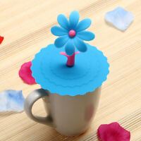 Sunflower Dustproof Reusable Silicone Cup Lid DIY Insulation Cup Cover
