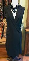 NEW WHBM $170 Tuxedo Wrap Front Little Black Dress White House Black Market 12