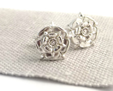 ENGLISH ROSE CUFFLINKS - Hallmarked Sterling Silver (HEAVYWEIGHT)