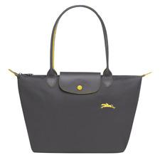 New Longchamp Le Pliage 1899 Nylon Tote Bag with Horse Embroidery Grey Handbag