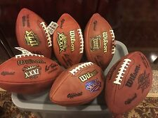 New England Patriots Official Wilson Super Bowl Game Ball Collection- Lot of 9