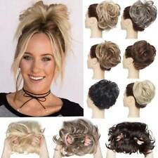 AU REAL LARGE MESSY Rose Bun  Hair Extensions Scrunchie Updo Hairpiecs As Human