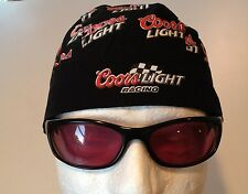 Coors Light Racing Du Rag Head Wrap Biker Bandana