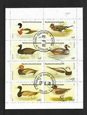 EQUATORIAL GUINEA..LOVELY BLOCK OF 8 STAMPS OF BIRDS