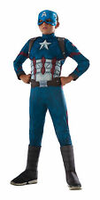 Kids Deluxe Muscle Chest Captain America Costume Marvel Avengers Size Small 4-6