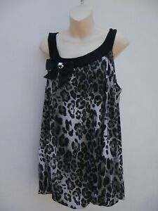 Animal Print Top Ladies Plus Size 20 New Look Inspire Blouse Evening Party