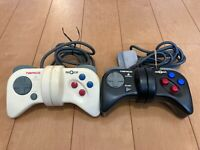 PS1 NEGCON WHITE & BLACK Controller Only NAMCO PlayStation
