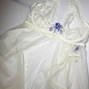 Fredericks of Hollywood Teddy and Thong Lingerie Set size M NWT Pearl Purple Bow