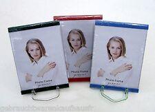 Cadre photo en verre en Lot de 3 Cadre photo verre rouge vert bleu 13 x 18 cm